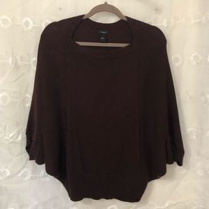 Ann Taylor Eggplant Ponchos Sweater